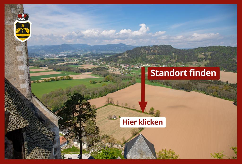 Hier finden Sie den Turnierplatz, Burg Hochosterwitz in Kärnten, Foto: DerHandler