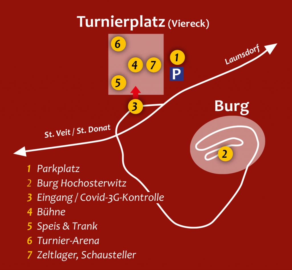 Lageplan Ritterfest Burg Hochosterwitz 2021